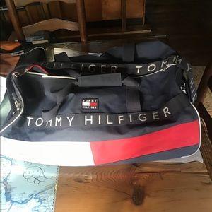 VINTAGE 90s Tommy Hilfiger Duffel Bag